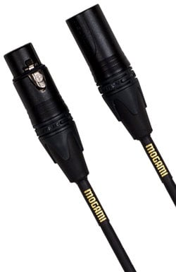 Mogami Gold Studio 15 15 ft XLR-M to XLR-F Microphone Cable with Neglex Studio Quad Cable GOLD-STUDIO-15