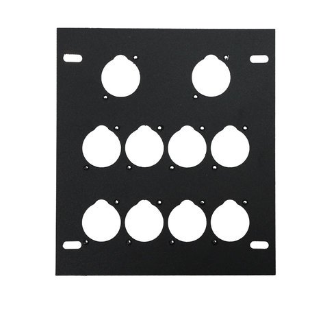 Elite Core Audio FB-PLATE10  Unloaded Plate for Recessed Floor Box, 10 Mounting Holes  FB-PLATE10