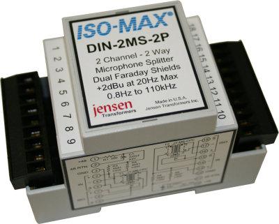 Jensen Transformers DIN-2MS-2P Dual Two-Way Mic Splitter Module (with Phantom Power, Dual Faraday Shields) DIN-2MS-2P