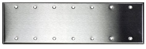 Whirlwind WP7/0H 7-Gang Stainless Steel Wall Plate, Blank WP7/0