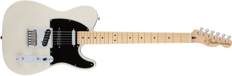 Fender Deluxe Nashville Tele® Electric Guitar, White Blonde Finish TELE-NASHDLX-MN-WBL
