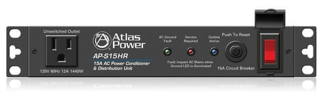 Atlas Sound AP-S15HR  15A Half Width Rack Power Conditioner  AP-S15HR