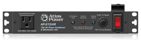 Atlas Sound AP-S15HR  15A Half Width Rack Power Conditioner  AP-S15HR