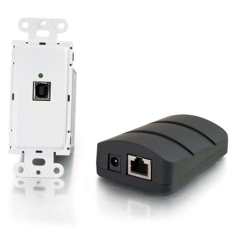 Cables To Go Trulink USB 2.0 Over Cat5 Superbooster Wall Plate Transmitter to Dongle Receiver Kit 53878