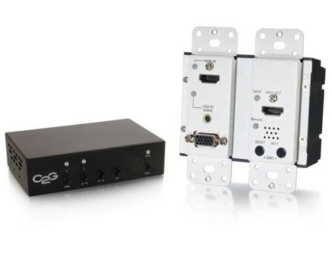 Cables To Go 29306  HDMI, VGA + Stereo Audio to HDMI HDBaseT Over Cat5 Extender Kit 29306