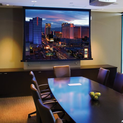 Draper Shade and Screen 140028FNL  Access FIT/Series V Ceiling-Recessed Motorized Projection Screen 140028FNL