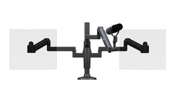O.C. White Co. SMS-2-ULP  ProBoom® Ultima™ Dual Monitor & Mic Boom SMS Package  SMS-2-ULP