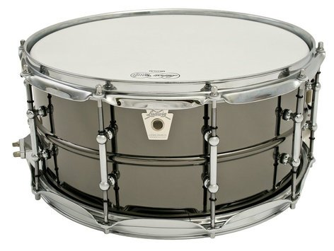 """Ludwig Drums Black Beauty 6.5 x14"""" Smooth Shell Snare Drum LB417T"""