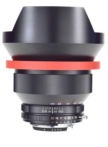 Zeiss 1457-856 Black Distagon T* 2.8/15 ZM Lens with Lens Shade 1457-856