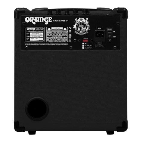 Orange Amplification Crush Bass 25 Bass Amp, 25W CRUSH-BASS-25