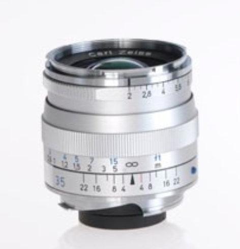 Zeiss 1365-658 Silver Biogon T* 2 0/35 ZM Lens
