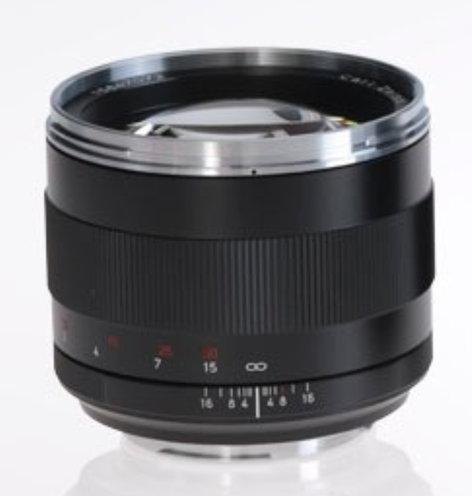 Zeiss 1677-838  Planar T* 1.4/85 ZE Lens 1677-838