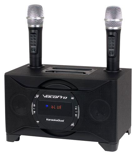 VocoPro KaroakeDual 100W Tablet/Smart TV Karaoke System with Dual Wireless Micro  KARAOKE-DUAL