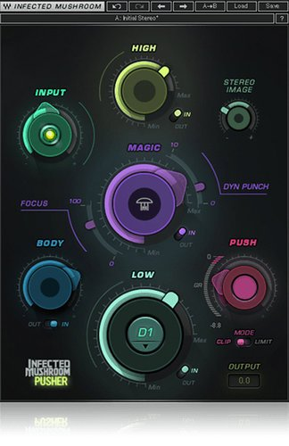 Waves Infected Mushroom Pusher [VIRTUAL] Multiband Sonic Enhancer and Limiter/Clipper Plugin IMPSHER