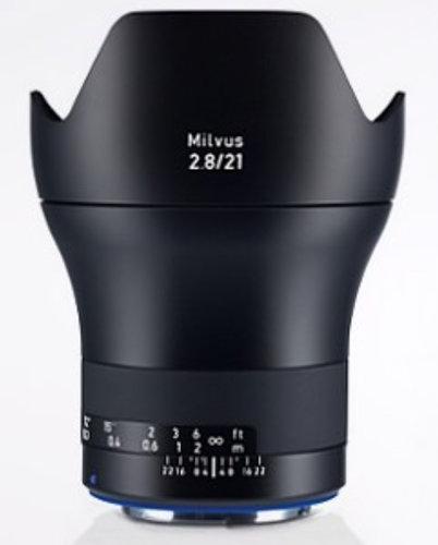 Zeiss 2096-549  Milvus 2.8/21 ZE Lens 2096-549