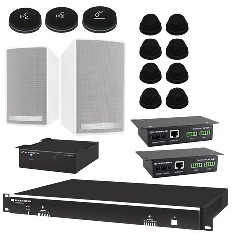 Sennheiser TeamConnect System Bundle Large For Fixed Applications Team Connect System Package For Up To 16 Participants TEAMCONNECT-L-FIX