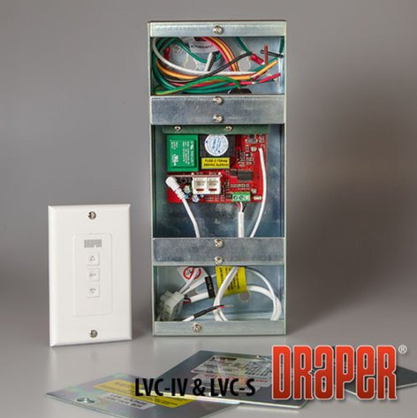 Draper Shade and Screen 121223  110 V Low Voltage Control with Switch 121223