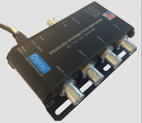 Osprey Video 97-11004  1:4 Equalized 3G Distribution Amplifier with DVB-ASI  97-11004