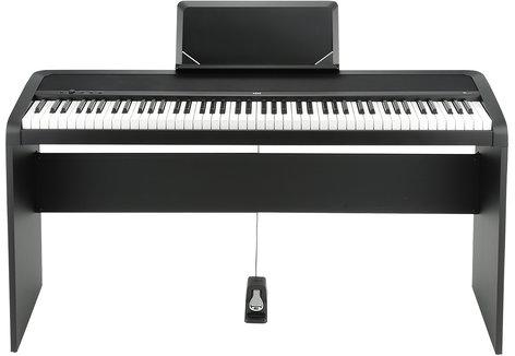 Korg B1BK 88-Key Digital Piano with Weighted Hammer Keyboard Action, Black B1BK