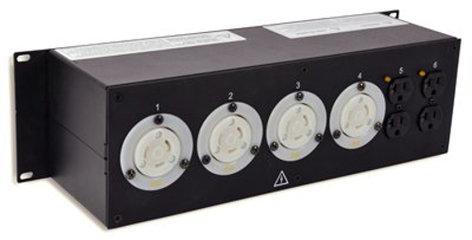 Lex Products Corp PRM3IN-4CC3DC 3RU Rack Mount Power Distribution Module, L21-30 In/Thru to (4) L5-30 and Duplexes PRM3IN-4CC3DC