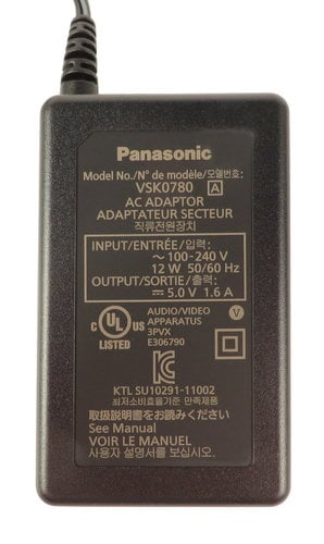 Panasonic VSK0780A  Power Adapter for HC-V500 and HC-V720 VSK0780A