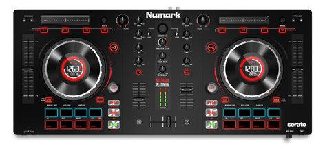 Numark Mixtrack Platinum Four Channel DJ Controller With Jog Wheel Display MIXTRACK-PRO-PLAT