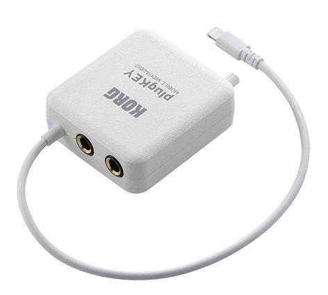 Korg plugKEY Mobile MIDI/Audio Interface, White PLUGKEYWH