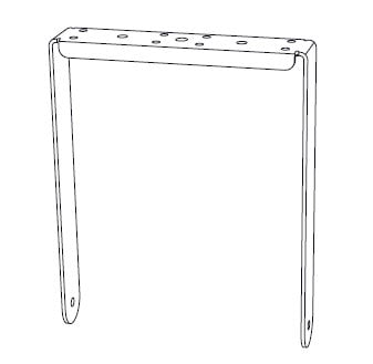 Community IVY2082 Vertical Yoke For IC6-2082 For Indoor Use, Black IVY2082B