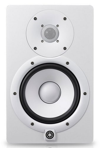 "Yamaha HS7IW  White Bi Amplified Monitor Speaker with 6.5"" LF (60W) Cone, 1"" HF (35W) Dome Installation Speaker HS7IW"