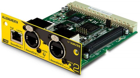 Allen & Heath M-WAVES2-A Waves SoundGrid Interface Card Version 2, 64 In / 64 Out M-WAVES2-A