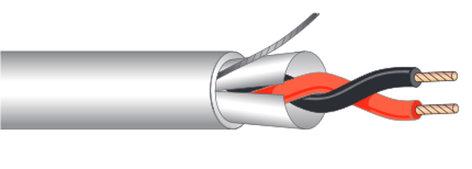 West Penn 25292B-1000 Cable, Plenum, Extra Flexible, 2c 20ga shielded, 1000' 25292B-1000