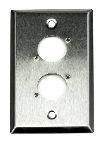 Whirlwind WP1/2 Wall Plate, Single Gang, Stainless WP1/2