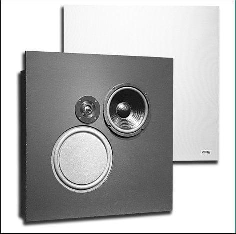 KSI Professional 8081CS-FR-RST-01 Two-Way Speaker (with Backbox, Fire Retardant Cabinet Material) 8081CS-FR-RST-01