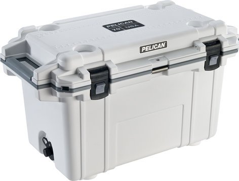 Pelican Cases 70QT  Elite Cooler in White/Gray 70QT