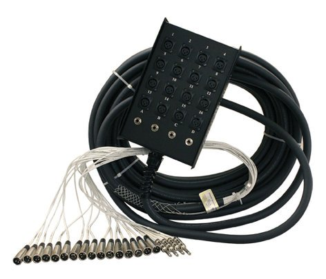 Rapco S12X0-200 200 ft S Series Fan to Box Microphone Snake with 12 XLR Inputs and No Returns S12X0-200