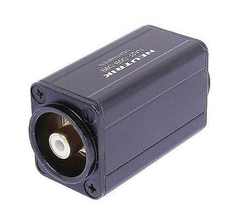 Neutrik NA2BBNC-D9B  BNC to RCA/Phono D Shape Adapter NA2BBNC-D9B