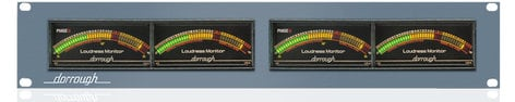 Dorrough Electronics 12-ADR Analog Loudness Meter Two 12-A Meters Mounted into a Standard Rack  12-ADR