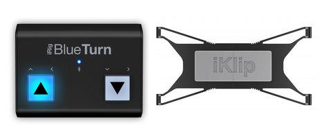 IK Multimedia Tablet Page Turner Bundle iRig BlueTurn and iKlip Xpand Bundle TABLET-PAGETURN-BNDL