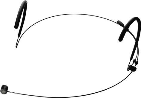 Galaxy Audio HSM8-UBK  Uni-Directional Headset Microphone With Dual Hook, Black HSM8-UBK
