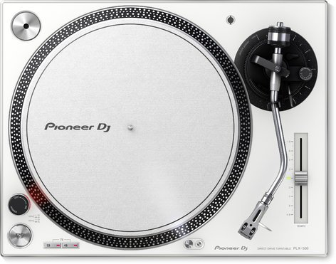 Pioneer PLX-500-W High-Torque Direct DriveTurntable, White PLX-500W