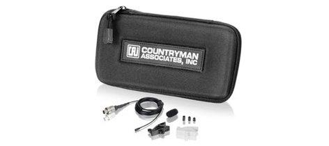 Countryman B6 Lavalier Microphone for Sennheiser Wireless, Black, Model B6W5FF05B-SR B6W5FF05B-SR