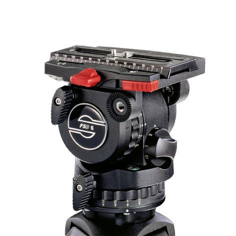 Sachtler System FSB 6 / 2 D Fluid Head FSB 6 System with Ground Spreader and ENG 75/2 D Tripod 0471-SACHTLER