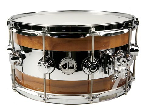 """DW Collector's Series® 14""""x7"""" Reverse Edge Walnut Snare Drum DRLC0714SYC-01"""