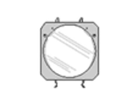 Lowel Light Mfg O1-52  Clear Glass  O1-52