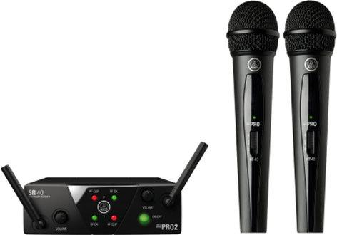 AKG WMS40-VOCAL-MINI-2 Wireless System, 2-Ch, Vocal WMS40-VOCAL-MINI-2