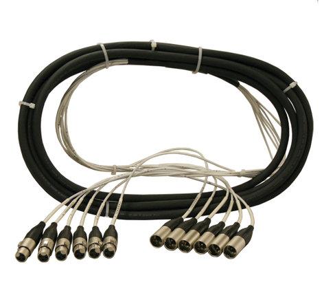 Rapco NMT410FM 10 ft MT Series 4 Channel XLRF to XLRM Snake NMT410FM