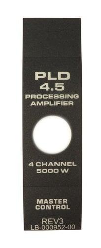 QSC LB-000952-00 Faceplate Label for PLD4.5 LB-000952-00