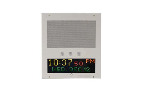 Advanced Network Devices IPSWD-FM-RWB  IP Speaker Flush Mount with Display and Flashers IPSWD-FM-RWB