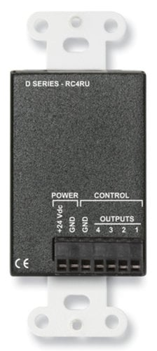 Radio Design Labs DB-RC4RU  4 Channel Remote Control for RACK-UP 4x1 Audio or Video Switchers, Black DB-RC4RU