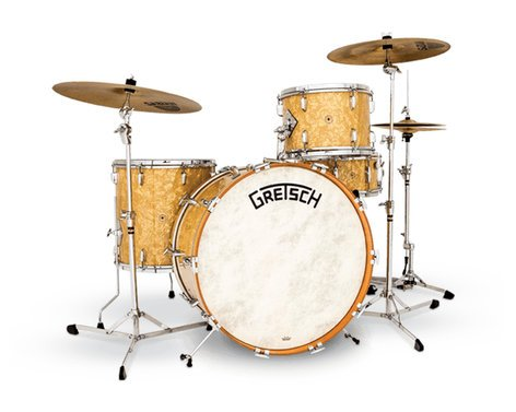 Gretsch Drums BK-RC424V-AP Broadkaster Vintage 4-Piece Shell Pack, Antique Pearl Finish BK-RC424V-AP
